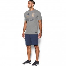 KOSZULKA MĘSKA UNDER ARMOUR CLAY SPORTSTYLE TRIBLEND TEE