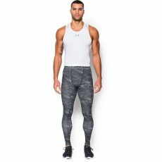 LEGGINSY MĘSKIE UNDER ARMOUR HEATGEAR ARMOUR PRINTED COMPRESSION LEGGING