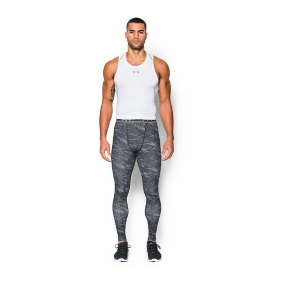 LEGGINSY MĘSKIE UNDER ARMOUR HEATGEAR ARMOUR PRINTED COMPRESSION LEGGINS
